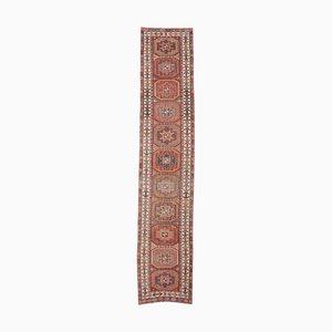 3x13 Vintage Turkish Oushak Hand-Knotted Wool Runner Carpet