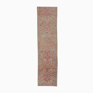 Tappeto Oushak vintage 3x10 rosso di lana, Turchia