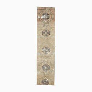 Tappeto antico Oushak in lana lavorata a mano 3x11