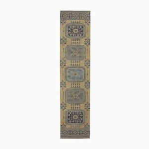 3x11 Vintage Turkish Oushak Handmade Yellow Wool Runner Rug