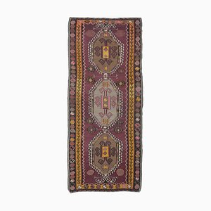5x11 Vintage Turkish Oushak Handmade Wool Kilim Area Rug