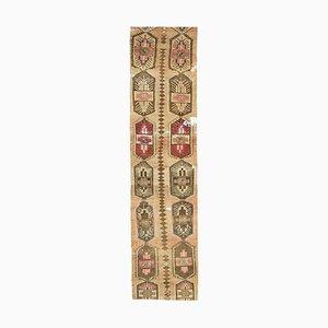 3x13 Antiker türkischer Oushak Ikat Läufer Teppich aus Oushak