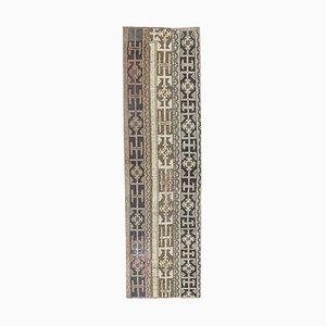 Türkischer Vintage Ouschak 2x8 Läufer aus handgewebter Wolle