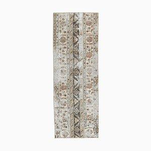 Türkischer Mid-Century Teppich aus türkisblauem Ouschak