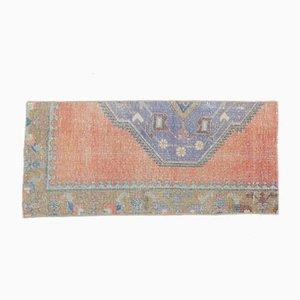 2x4 Vintage Turkish Oushak Handmade Wool Oriental Rug in Orange
