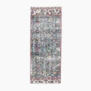 2x5 Vintage orientalischer Oushak Handgewebter Läufer Teppich aus Wolle