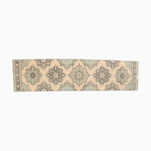 Tappeto Oushak Handmade Fadec vintage in lana arancione 3x12