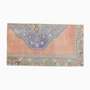 Tappeto Oushak vintage in lana fatto a mano 2x4 vintage, Turchia