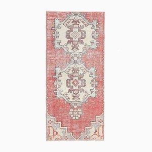 Türkischer Vintage Oushak 2x4 Vintage Teppich aus Roter Wolle