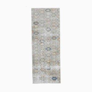2x6 Vintage Turkish Oushak Runner Rug in Handmade Wool