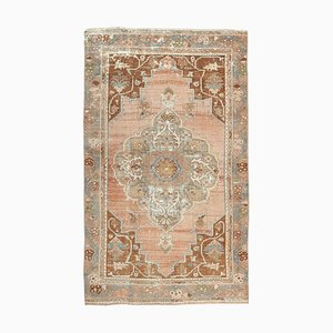 4x7 Vintage Turkish Oushak Handmade Copper Wool Carpet
