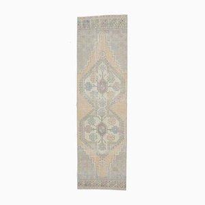 Tappeto 3x9 Medio Oriente antico Oushak fatto a mano di lana, Egitto