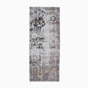 Tappeto Oushak vintage fatto a mano a metà tappeto di lana, anni '60