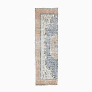 2x10 Vintage Turkish Oushak Handmade Wool Half Runner Rug