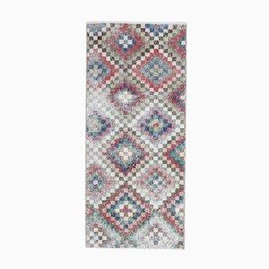 2x5 Türkischer Vintage Oushak Teppich oder Flur Runner