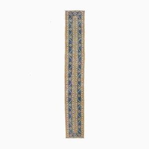 2x12 Vintage Turkish Oushak Narrow Handmade Runner Rug