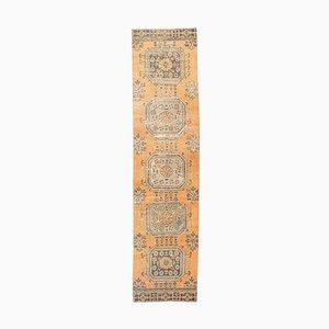 3x10 Handgeknüpfter türkischer Vintage Oushak Teppich aus Wolle