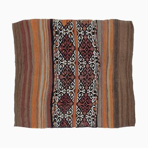 4x4 Vintage Turkish Oushak Doormat or Small Carpet