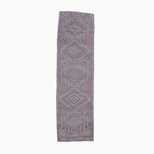 3x10 Vintage Turkish Oushak Purple Wool Runner Rug