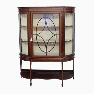 Edwardian Mahogany Glazed Display Cabinet, 1900s