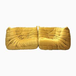 Vintage Togo Sofas from Ligne Roset, Set of 2