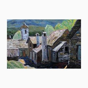 Gunnar S. Malm, Swedish Painting, 1960s, Oil On Panel