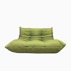 Grünes Vintage Togo Sofa von Ligne Roset