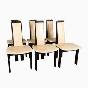 Mid-Century Esszimmerstühle im Stil von Pietro Costantini, 1970er, 6er Set