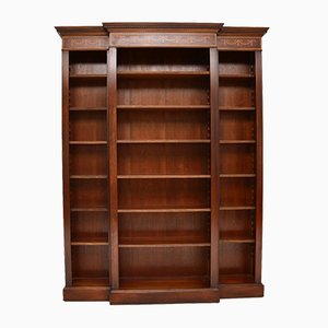 Antique Sheraton Style Inlaid Open Bookcase, 1950s
