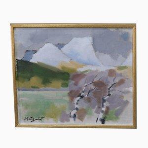 Ivar Hjertqvist, Swedish Impressionist Painting, Oil on Canvas, 1960s