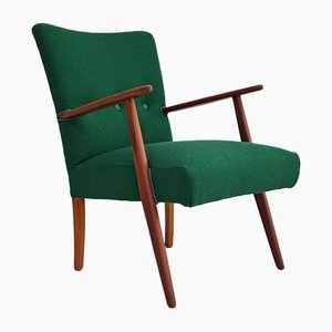 Dänischer Armlehnstuhl aus Teak & Kvadrat Wolle, 1960er