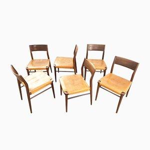 Deutsche Esszimmerstühle von Georg Leowald für Wilkhahn, 1960er, 6er Set