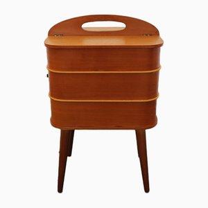 Mobiletto da cucito in legno, anni '60