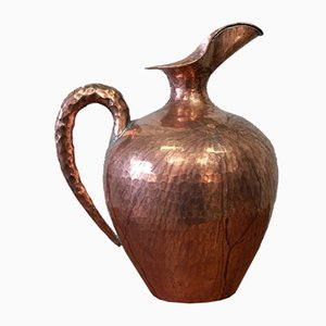 Italian Modernist Copper Pitcher by Egidio Casagrande, 1950s