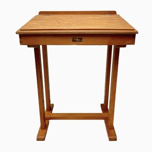 Mid-Century Wooden School Desk with Lift-Up Lid from Taylor