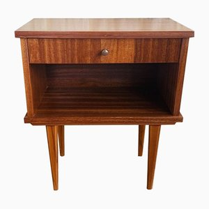 Vintage Scandinavian-Style Nightstand with Tapered Legs, 1960s