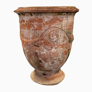 Antique Terracotta Anduze Planter by Gautier, Early 1800s