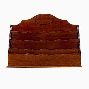 Antique Edwardian English Mahogany Desk Tidy or Stationery Rack, Circa 1910