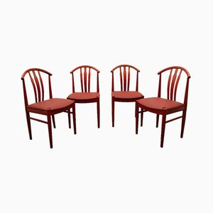 Swedish Dining Chairs by C. Ekström, A. Johansson & S. Hyssna, 1970s, Set of 4