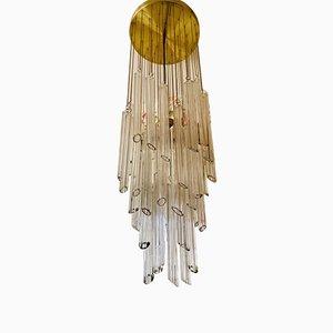 Lámpara colgante grande de cristal de Murano de Paolo Venini para Camer, años 70