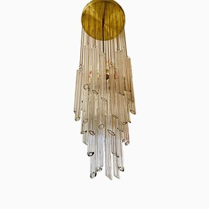 Large Murano Glass Pendant Lamp by Paolo Venini for Camer, 1970s