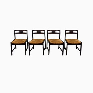 Wenge Dining Chairs, 1960s, Set of 4