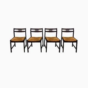 Wenge Esszimmerstühle, 1960er, 4er Set