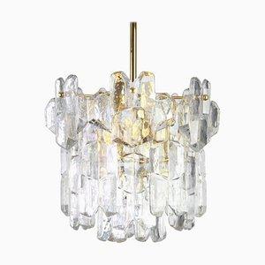 Austrian Gilt Brass & Crystal Glass Palazzo Chandelier from Kalmar Franken KG, 1970s