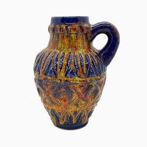 Vaso in ceramica dipinta di Bay Keramik, anni '60