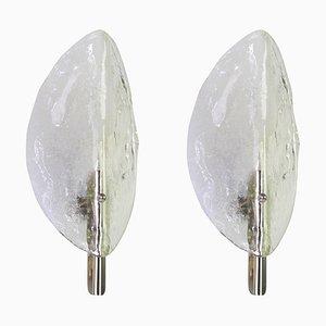 Austrian Murano Glass Sconces from Kalmar Franken KG, 1970s, Set of 2