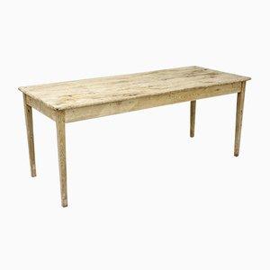 Mesa de comedor antigua alta de roble