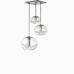 German Space Age Chrome Sputnik Pendant Lamp from Peill & Putzler, 1970s
