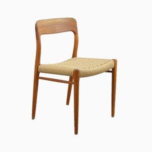 Modell 75 Esszimmerstühle von Niels Moller, 6er Set