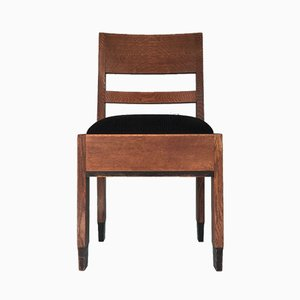 Art Deco Oak Haagse School Dining Chairs by H. Fels for L.O.V. Oosterbeek, 1920s, Set of 2